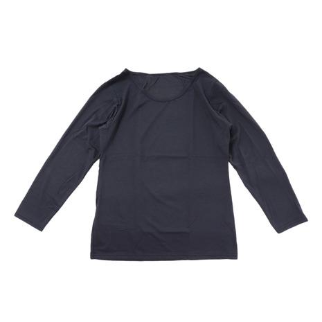 PGACヒートクロス 薄手9分袖クルーネックシャツ BLK