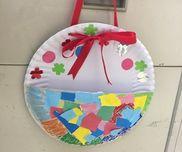 【母の日制作】3歳児メッセージ入れシール画用紙クレヨンホチキス紙皿