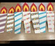 お誕生日会のケーキに子どもがつけるローソク!!!!『いるもの』・厚画用紙・マスキングテープ