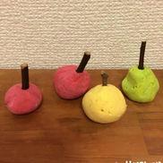 なんちゃってりんご〜木の枝を使った製作遊び〜