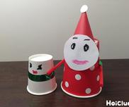 紙コップdeサンタさん&雪だるま〜クリスマスにぴったりの製作遊び〜