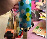 棒アイス・2.3.4.5歳児・ダンボール、トイレットペーパーの芯、丸シール、折り紙、ガムテープ、テープ