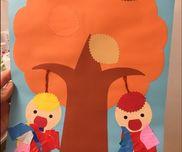【折り紙でみのむし】・0歳児・冬・折り紙