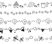 9月のイラスト(おたよりカット・ライン挿し絵)
