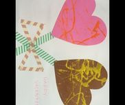 バレンタインチョコビー玉絵の具画用紙平たい大きめの箱