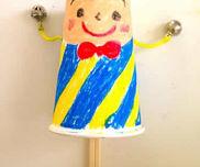 紙コップのでんでん太鼓〜音と動きにウキウキの手作りおもちゃ〜