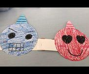 鬼のお面・3.4.5歳児・画用紙、色画用紙、輪ゴム、ホチキス、テープ、くれよん