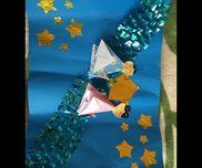 【天の川】 ・画用紙、折り紙 ・はさみ、のり