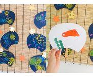 【野菜スタンプ/手形 うちわ】・野菜スタンプ(ゴーヤ、オクラ)・夏・0歳児