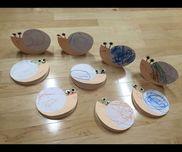 かたつむり2歳児紙皿・画用紙・モール・シール