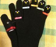 手袋シアター授業で作ったカラスの親子