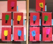羽子板2歳児折り紙・画用紙