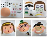 マグネットシートdeへーんしん!☆2歳児☆顔の配置などもよく理解できてくる年齢。顔パーツ、おしゃれパーツを自由に組み合わせて色々な顔に変身〜をたのしもう!☺︎材料☺︎・ホワイトボード・マグネットシートA4 2枚程度・画用紙、柄紙・両面テープ☺︎作り方☺︎パーツを色々作り、両面テープでマグネットシートに貼って切るだけ♪