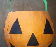 かぼちゃランタンバケツ〜張り子で作る本格な製作あそび〜