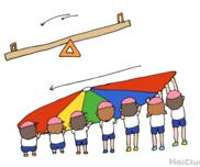 パラバルーン(シーソー)〜身体を大きく使ってダイナミックさを表現する方法〜