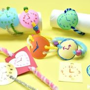 着せ替え腕時計〜繰り返し楽しめる、材料2つの製作遊び〜