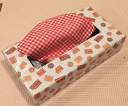【つながるハンカチ】ティッシュの箱包装紙布 数枚