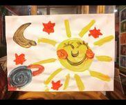 『世界の保育〜フランス〜』絵の具でのお絵かき。・画用紙・絵の具