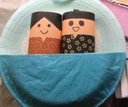 おだいりさまとおひなさま・3、4、5歳児・紙皿、トイレットペーパーの芯、折り紙、モール