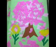 (春の製作)4歳児・折り紙・画用紙・はさみ・のり