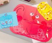 ●鬼のお面 3歳児   材料。クレヨン、のり、色画用紙、 形は、はさみで先に切って準備しておきます。 年少さん、向けです。是非参考に☆。.:*・゜