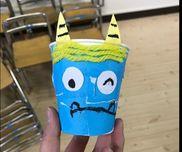 豆箱☆3歳児・紙コップ・折り紙・毛糸