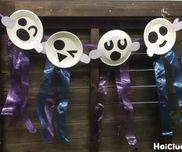 紙皿おばけのガーランド〜飾り方いろいろの製作飾り〜