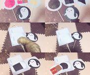 ペープサート『食いしん坊おばけ』材料画用紙厚紙割り箸折り紙