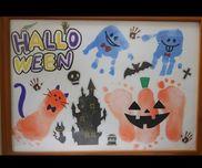 ハロウィンの手形足形アート(o^^o)