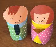 ひな人形トイレットペーパーの芯折り紙
