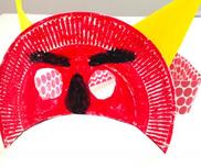 紙皿のおにマスク〜鬼に変身できちゃう製作遊び〜