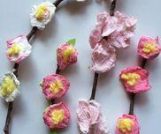 春いっぱいのお花〜ティッシュ×色水で楽しむ製作遊び〜