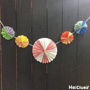 お花の和ガーランド〜折り紙で楽しむ製作飾り〜