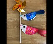 ・4歳児小さい紙皿はじきえ