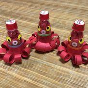 R-1瓶で、タコ魚釣りゲーム第三段R-1空、花紙、色画用紙、シール