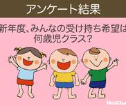 【アンケート結果】新年度、みんなの受け持ち希望は何歳児クラス?