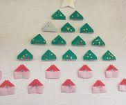 クリスマスツリー*1,2歳児*折り紙*シールはり