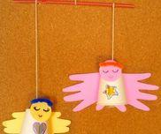 手型de天使モビール〜クリスマス飾りにもオススメの製作遊び〜