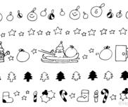 12月のイラスト(おたよりカット・ライン挿し絵)