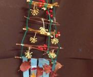 木の枝and落ち葉ツリー〜自然の素材で楽しむアイディア製作遊び〜