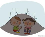 ポツポツ!ばしゃばしゃ!ビニールシートテント〜雨の日だからこそ楽しめる戸外遊び〜