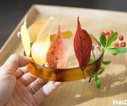 【工作コラム】秋のかんむり〜素材/秋の落ち葉や草花