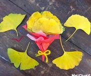イチョウの花束〜秋の自然で楽しむ季節の製作遊び〜