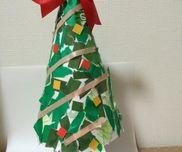 びりびりペタペタ!立体クリスマスツリー〜ちぎり貼りで楽しむクリスマス製作〜