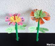春らんまん!クルクルお花の風車〜春にぴったりの製作遊び〜