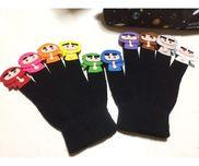 指忍者・3、4、5歳・年中使用可・手袋、フェルト、動く目ん玉