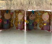 ♢材料♢牛乳パック折り紙(金色)画用紙ヤクルトの容器お花紙