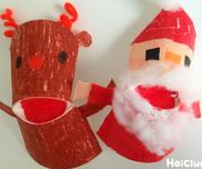パクパク!サンタ&トナカイ〜紙コップで楽しむクリスマス製作遊び〜