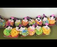 ▼ ひな人形 ( 1.2歳児 )花紙いちごやトマトが入ってる透明パック画用紙プチマジー