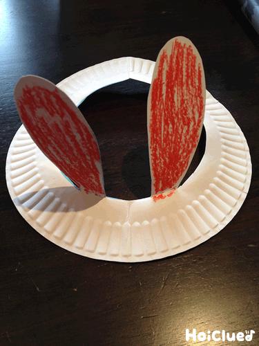 紙皿deうさぎ帽子〜紙皿1枚で楽しめる製作遊び〜